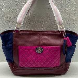 COACH PARK QUILTED COLORBLOCK CARRIE  F24693